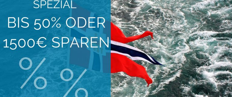 Hurtigruten Spezial - bis 50% oder 1500€ sparen