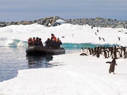 Reise in Antarktis, Anlandung bei perfektem Wetter