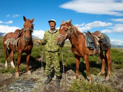 Reise in Russland, Nikolais Jurte in der Kuray-Steppe
