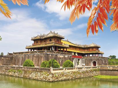 Reise in Kambodscha, Eingang Zitadelle in Hue, Vietnam