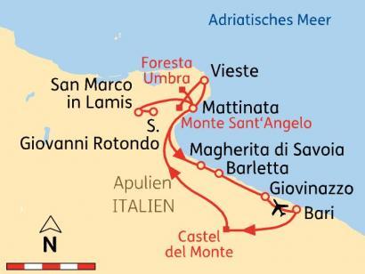Reise in Italien, Apulien: Impressionen im Norden