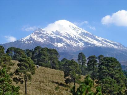 Reise in Mexiko, Die letzten Meter zum Gipfel benötigt man Steigeisen und Eispickel.