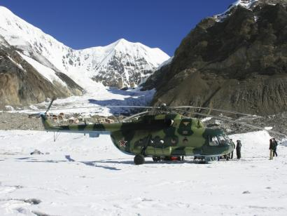Reise in Kirgistan, Aus dem Hubschrauberbullauge