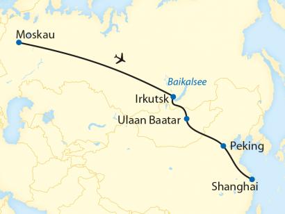 Reise in China, Bahnreise durch Russland, Sibirien, die Mongolei und China im Winter (2020)