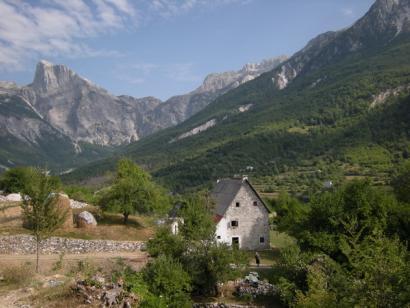 Reise in Albanien, Die Lage unserer Unterkünfte im alpiner Umgebung