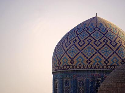 Reise in Usbekistan, Eine der Kuppeln Schah-I-Zindas
