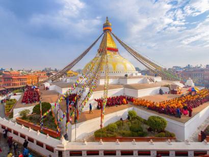 Reise in Nepal, Boudhanath Stupa in Kathmandu