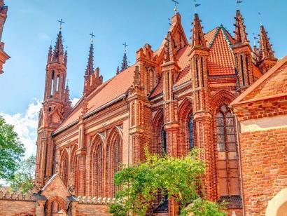 Reise in Estland, St. Anna-Kirche in Vilnius, Litauen