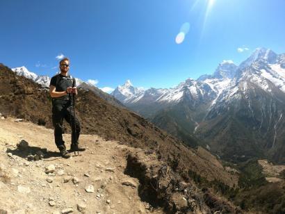 Reise in Nepal, Stupa im Khumbu