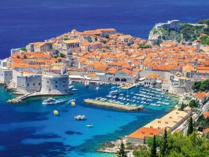 Reise in Kroatien, Alter Stadthafen von Dubrovnik, Kroatien