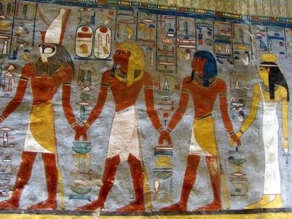 Reise in Ägypten, Sphinx vor Großer Pyramide von Gizeh