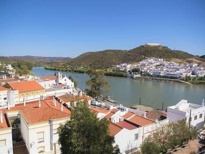 Reise in Portugal, Blick auf den Rio Guadiana