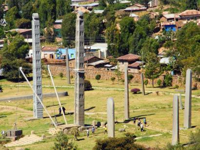 Reise in Äthiopien, Blick von der Kirche Daniel Korkor auf die Gheralta-Region
