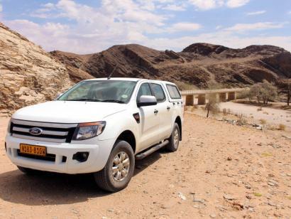Reise in Namibia, Mietwagen in der Namib-Wüste