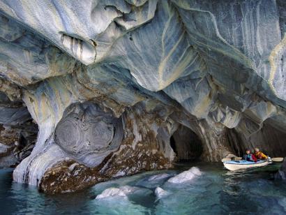 Reise in Argentinien, Marmorhöhlen im Lago General Carrera