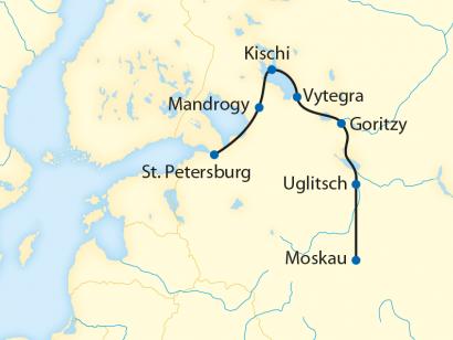 Reise in Russland, Flusskreuzfahrt mit der MS Repin von St. Petersburg ins Herz Russlands (2020)