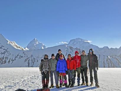 Reise in Pakistan, Blick hinüber zum majestätischen K2.