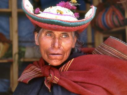 Reise in Bolivien, Frau aus Tarabuco