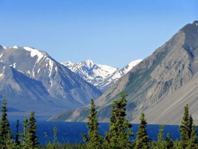 Reise in Kanada, Kluane Lake im Kluane NP, Yukon