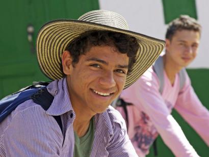 Reise in Kolumbien, Pueblo Paisa, Aussichtspunkt und Nachbau eines Kolonialstädtchens mitten in Medellin