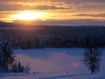Reise in Schweden, Das Huskycamp im Spätwinter