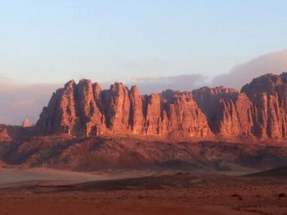 Reise in Jordanien, Morgenstimmung im Wadi Rum