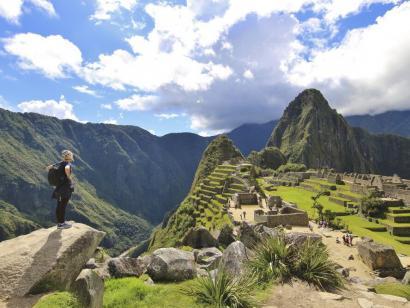 Reise in Peru, Blick auf Machu Picchu