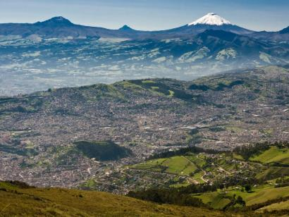Reise in Ecuador, Blick über Quito