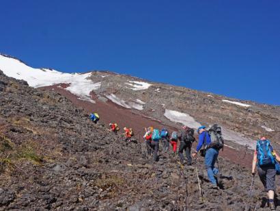 Reise in Japan, Besteigung des Fuji-san im Mai