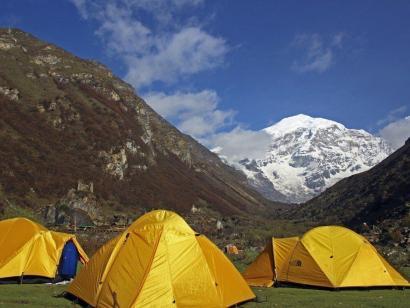 Jomolhari-Trekking Zelttrekking durch den bhutanischen Himalaya am Fuße des heiligen Berges