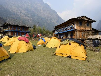 Reise in Nepal, Blick auf den Kanchenjunga