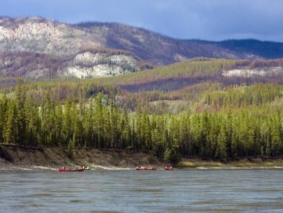 Reise in Kanada, Kanus auf dem Yukon