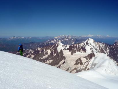 Reise in Georgien, Blick auf Kasbek (5047m)