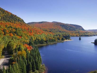 Reise in Kanada, Herbstlandschaft in den Laurentides