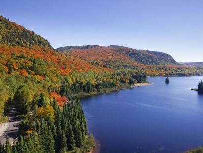 Reise in Kanada, Herbstlandschaft in den Laurentides