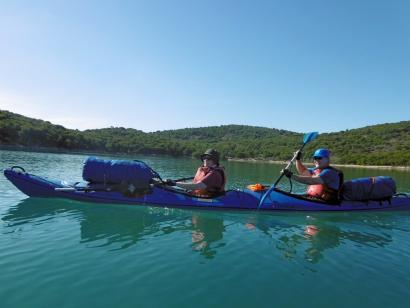 Reise in Kroatien,  Kroatien aus der Kajakperspektive