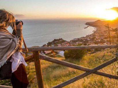 Reise in Portugal, Sonnenuntergang auf Madeira