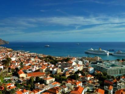 Reise in Portugal, Blick auf die Bucht von Funchal