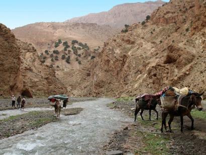 Reise in Marokko, Flussquerung a la marocain