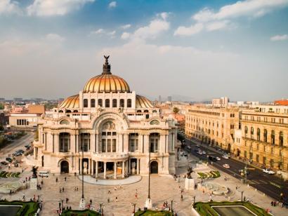 Reise in Mexiko, Palacio de Bellas Artes in Mexiko-Stadt