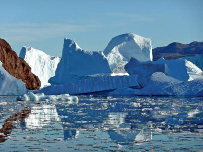 Reise in Grönland, Eisberg-Friedhof im Scoresby-Sund