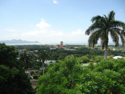 Reise in Nicaragua, Blick auf Managua