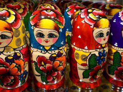Reise in Russland, Honigverkauf aus Wolga