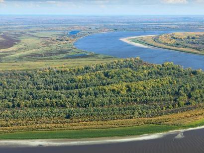 Reise in Russland, Flussschlaufe des Ob-Flusses