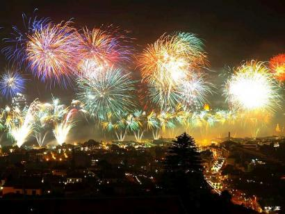 Reise in Portugal, Feuerwerk auf Madeira