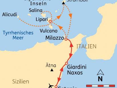 Reise in Italien, Sizilien & Äolische Inseln: Wandern