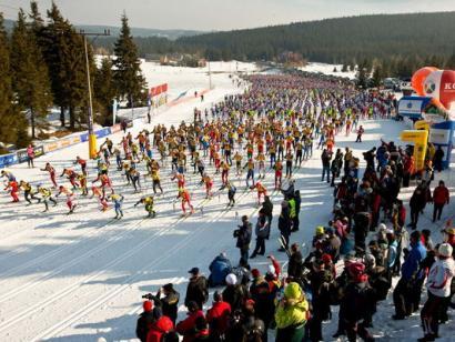 Reise in Polen, Skimarathon Bieg Piastow 2021