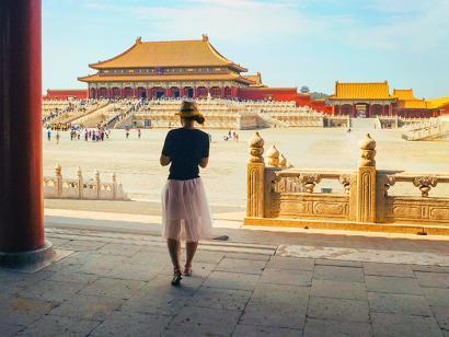 Reise in China, Verbotene Stadt in Peking, China