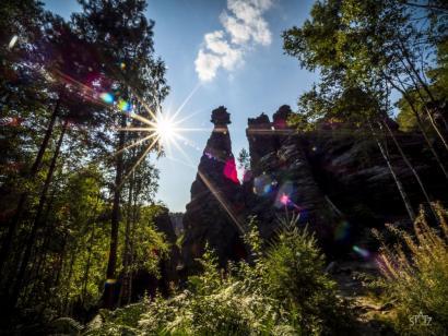 Reise in Deutschland, Sonnenuntergangsstimmung