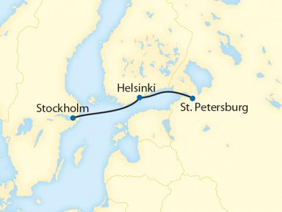Reise in Finnland, Stockholm – Helsinki – St. Petersburg  (2020)